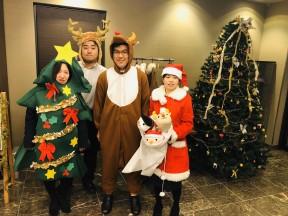クリスマススタッフ②(ツリー、トナカイ、サンタ、被り物)